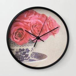 Rose Tea. Wall Clock
