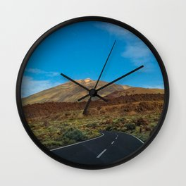 Photo of a road to the Teide at Tenerife Wall Clock