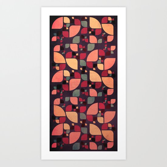 Vintage Butterflies Pattern Art Print