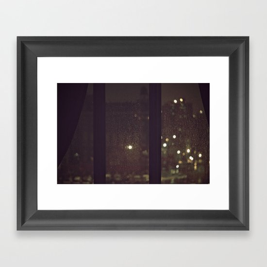 Something About The Rain Framed Art Print