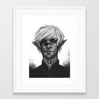 dragon age Framed Art Prints featuring Dragon Age - Fenris by eristhenat