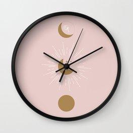Blush Moon Phases Wall Clock