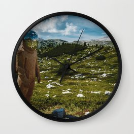 The Spaceman (Color) Wall Clock