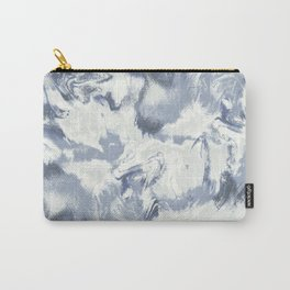 Marble Mist Blue Slate Carry-All Pouch