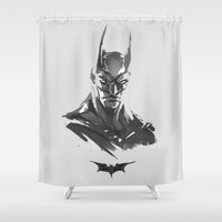 bat Shower Curtains featuring BAT by Bear Candy