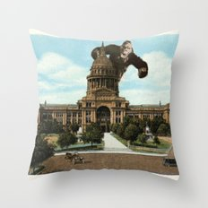 The King of Austin Throw Pillow