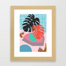 Memphis Palm Framed Art Print