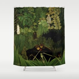 "Henri Rousseau ""Merry jesters"", 1910 Shower Curtain"