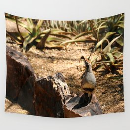 A Male Gambel's Quail Wall Tapestry