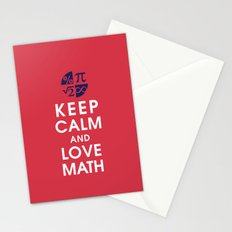 Keep Calm and Love Math Stationery Cards