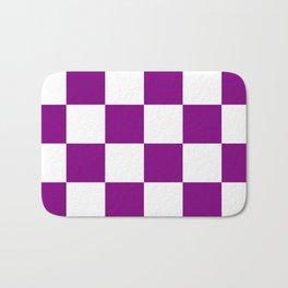Large Diamonds - White and Purple Violet Bath Mat