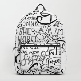 The Wicked Witch of the East Bro Hand Lettered Backpack