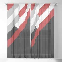 Diagonal stripes pattern Sheer Curtain
