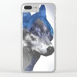 Double wolf Clear iPhone Case