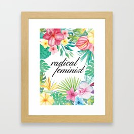 Radical Feminist Framed Art Print