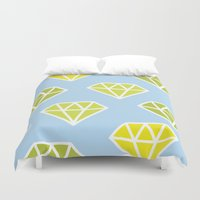 diamonds Duvet Covers featuring Diamonds by evannave
