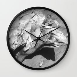 Driftwood on Sandy Beach Wall Clock