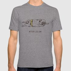 AFTER LEG DAY Tri-Grey MEDIUM Mens Fitted Tee