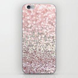 Girly Pink Snowfall iPhone Skin