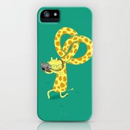 A Giraffe Photographer iPhone Case