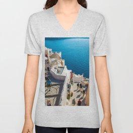 Oia,Santorini Unisex V-Neck