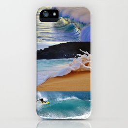 Nature Surf Collage iPhone Case