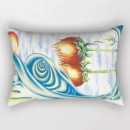 Poppie Flowers Rectangular Pillow