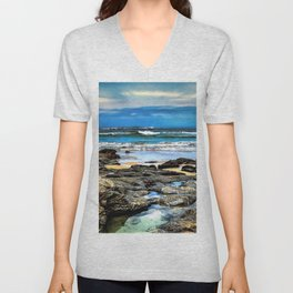 Beachscape, Hungry Head (1) Unisex V-Neck