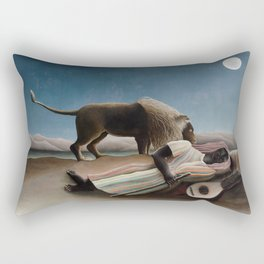 Henri Rousseau - The Sleeping Gypsy Rectangular Pillow