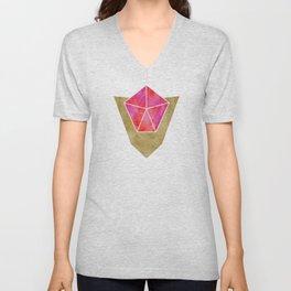 Ruby Spiritual Stone Unisex V-Neck