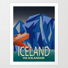 Iceland Air Art Print