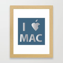 I heart Mac Framed Art Print