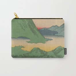 Mountain and Sea Ukiyoe Landscape Carry-All Pouch