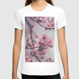 Pink Cherry Blossom On Branch T-shirt