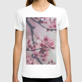 Pink Cherry Blossom On Branch T-shirt
