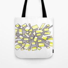 Yellow Fragmentation Tote Bag