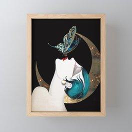 Butterfly Kiss Art Deco Remix Framed Mini Art Print