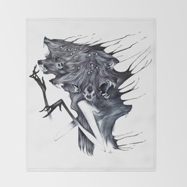 A Forest's Darkness Throw Blanket