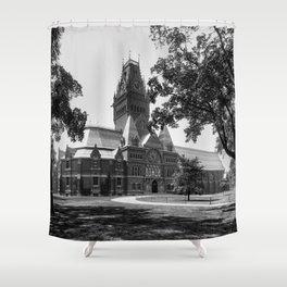 1899 photo of Memorial Hall at Harvard University Shower Curtain