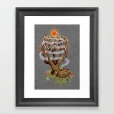 Octopus Tree Framed Art Print