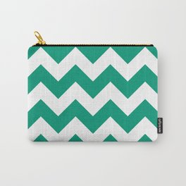 Emerald Chevron Carry-All Pouch