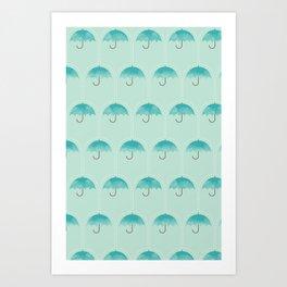Umbrella Falls Art Print