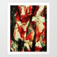 Chaotic Abstract Art Print