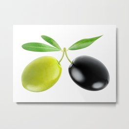 Two olives Metal Print