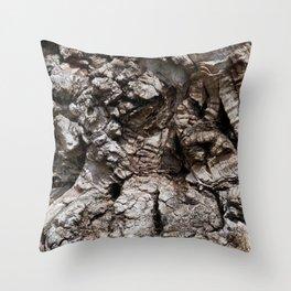 The barking tree Throw Pillow