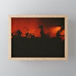 if music had a color it'd be red Framed Mini Art Print
