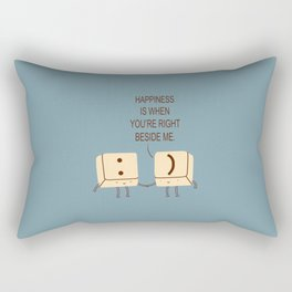 Happy Smile Keyboard Buttons Rectangular Pillow