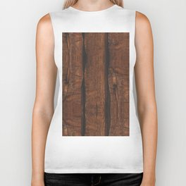 Rustic brown old wood Biker Tank
