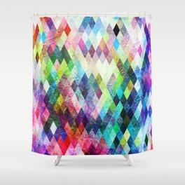 Diamond Bright Painted Design Shower Curtain