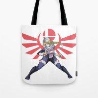smash bros Tote Bags featuring Smash Bros - Sheik by Emm Gee Art